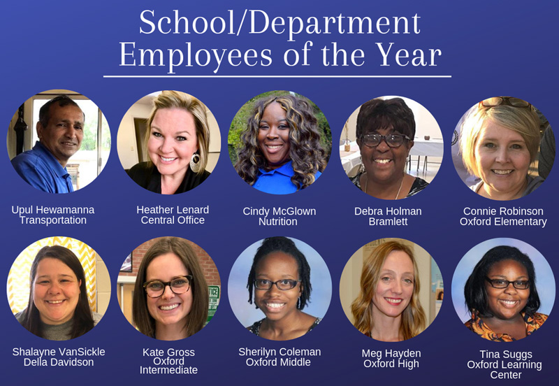 School & Department Employees of the Year 2019