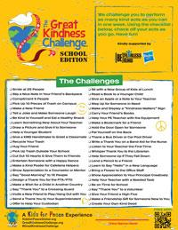 Download the Kindness Challenges: School Edition