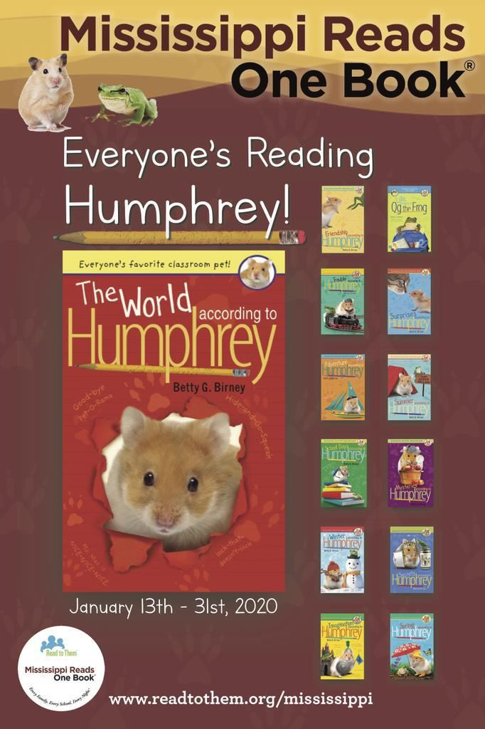 Mississippi Reads One Book: Everyone's Reading 'The World According to Humphrey' by Betty G. Birney – January 13-31, 2020