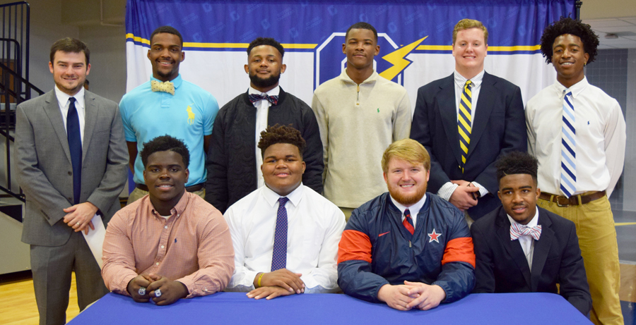 Oxford Chargers Participate in 2017 National Signing Day at Oxford High School