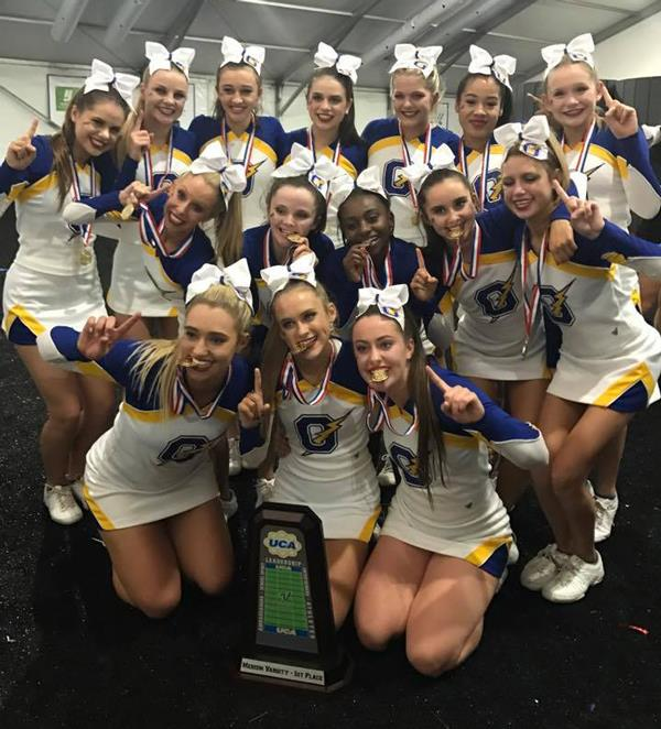 Oxford Charger Cheerleaders Win National Championship
