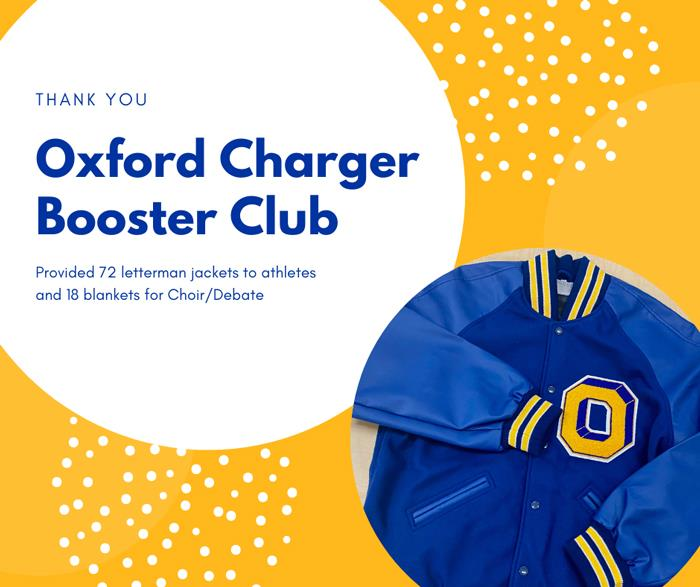 Thank You Oxford Charger Booster Club