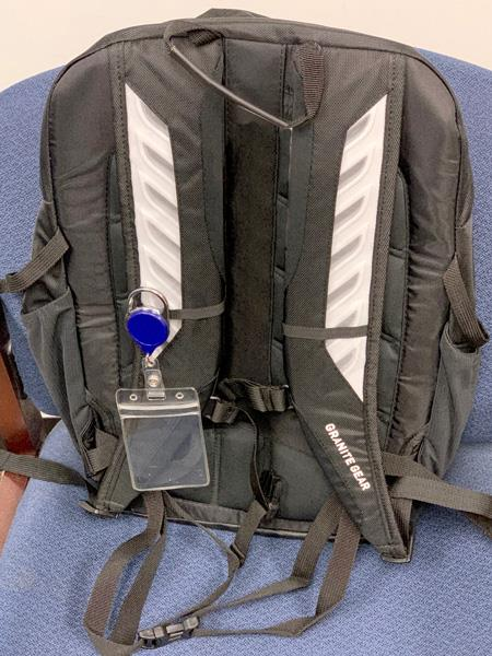 Backpack with visible I.D.